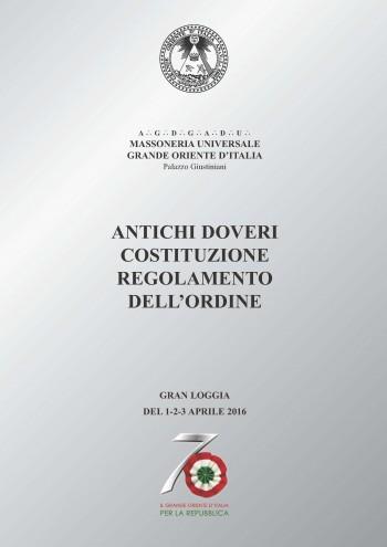 Costituzione e Regolamento dell'Ordine